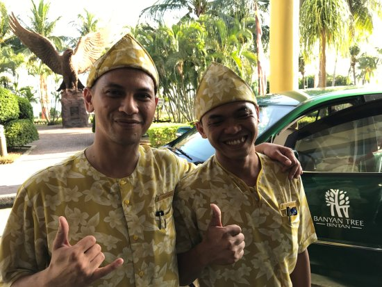 Banyan Tree Bintan: zwei super Jungs