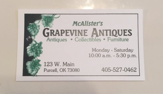 Purcell, OK: Grapevine Antiques