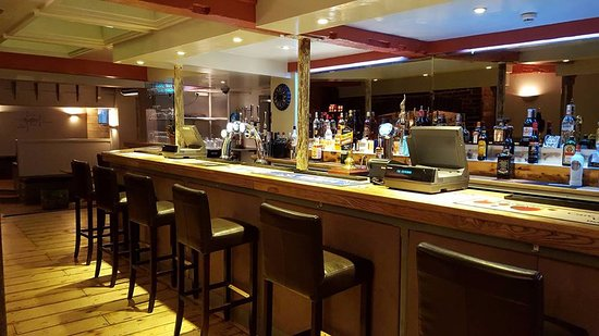 Devon, UK: Main Bar with four TVs showing BT Sport, with pool and your choice of music