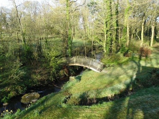 Llanddeusant, UK: Bridge over the stream at Llynnon Lodge