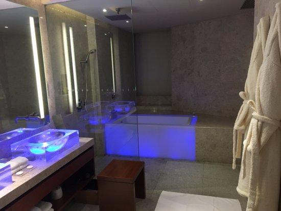 Bathroom With Blue Mood Lighting
