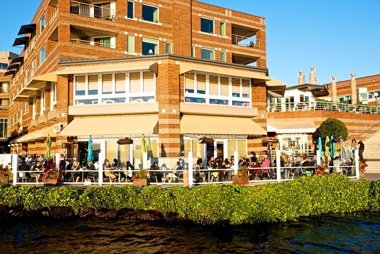 Kirkland, WA: Our waterfront patio is very popular in the summer months.