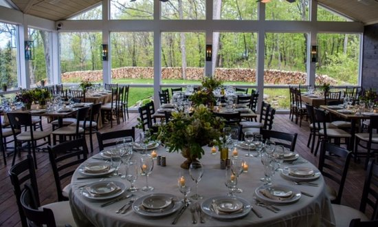 The Greens at Copake Country Club: The side patio set up for a beautiful event!