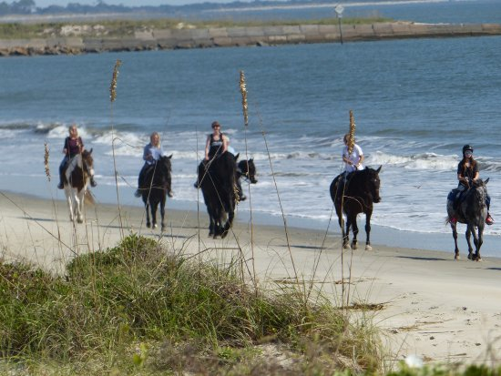 Saint Simons Island, GA: Experience the beauty of coastal barrier islands as you walk horseback on a private beach.