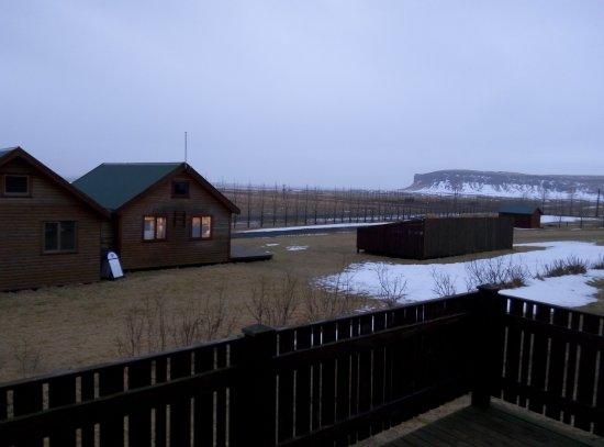Kirkjubaejarklaustur, Iceland: el jacuzzi cerca de la cabaña