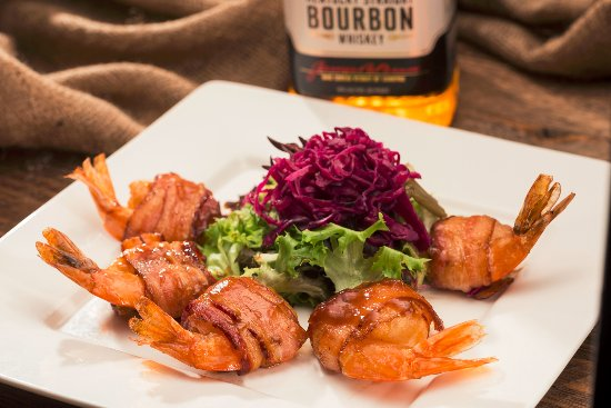 Santa Maria, CA: Bacon Wrapped Bourbon Shrimp