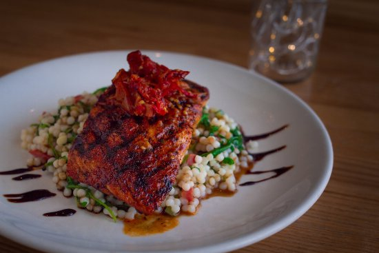 College Station, TX: Grilled Salmon - Our take on a classic!