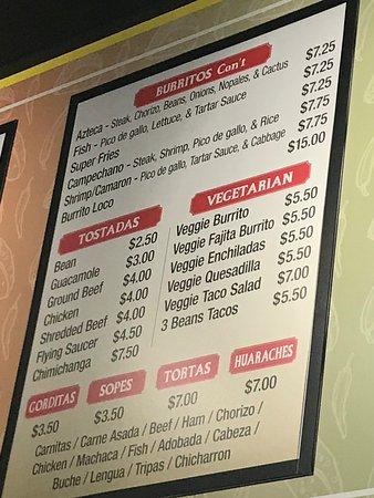 Menu - Picture of Giliberto's Mexican Taco Shop, Saint Cloud