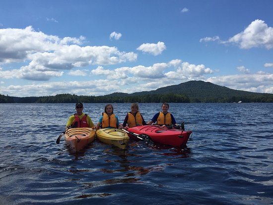 Kayaking on Lower Saranac Lake.