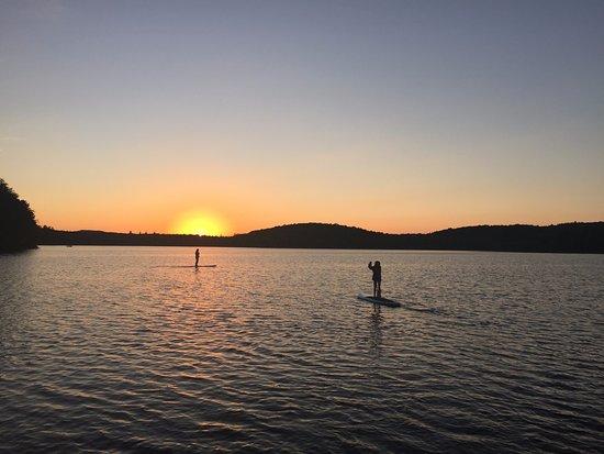 Saranac Lake, نيويورك: Sunset on Lake Colby. 