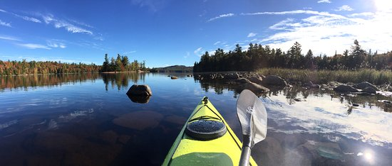 Saranac Lake, NY: Bluebird skies on Franklin Falls Pond.