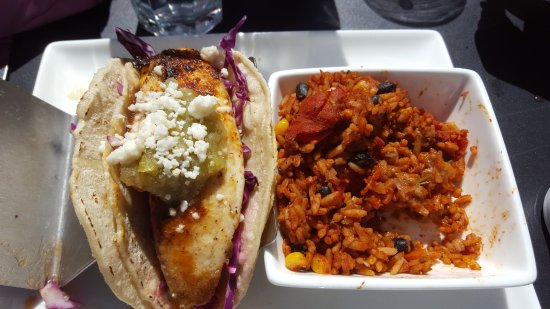 Snowbird, UT: Fish tacos with rice