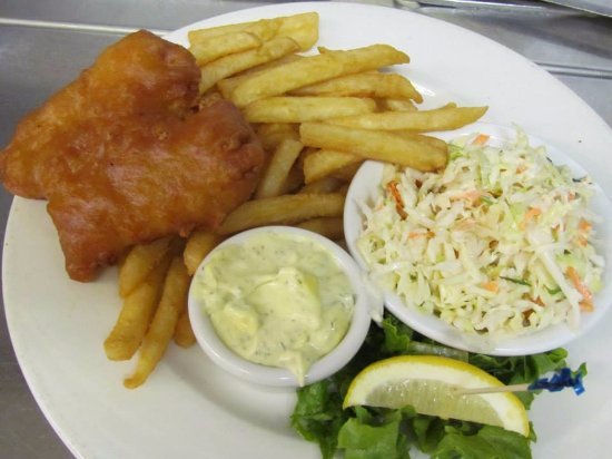 Πορτ Άλμπερνι, Καναδάς: 1 piece Fish and Chip. Everyone's favourite