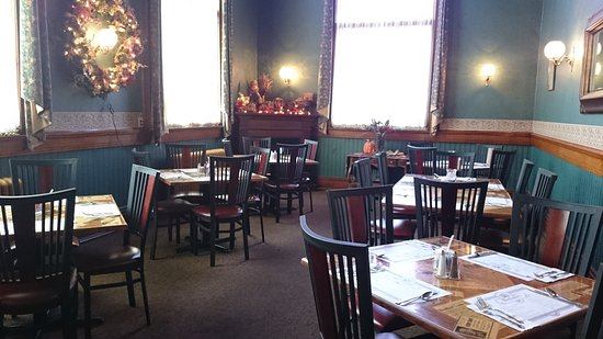 "Bradford, PA: The private dining room, also known as ""The Periodical Room"""
