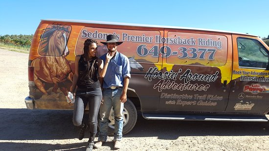 Cornville, AZ: Horsin around with the tour guide