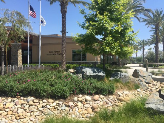 Lake Forest Sports Park: Landscaping around front entrance