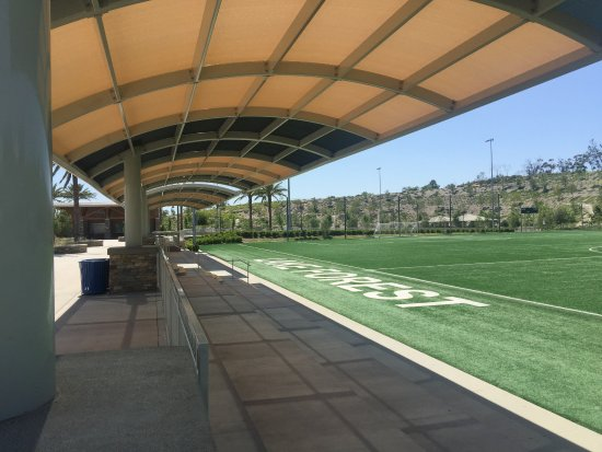 Lake Forest Sports Park: Shaded spectator's areas