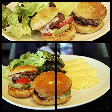 Saint-Jorioz, France: Mini Burgers, polenta (Menu enfant)