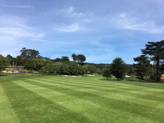 Pebble Beach, CA: Teeing off, first hole