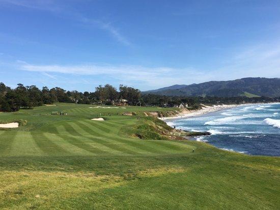 Pebble Beach Golf Links: #9 along the coast
