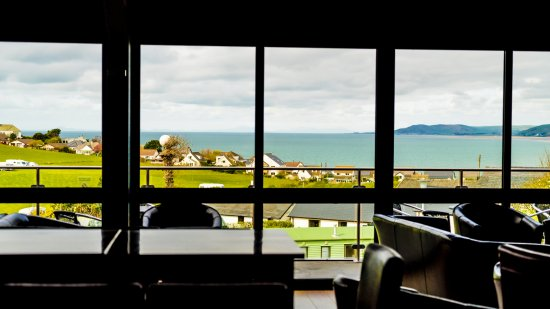 Stunning views of Borth and Cardigan bay whilst you relax.