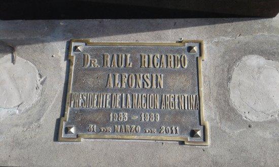 Chascomus, Argentinien: Placa conmemorativa
