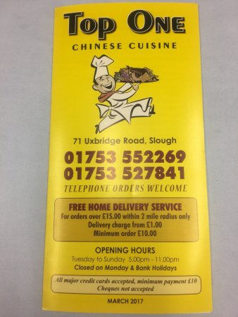 Top One Takeaway Slough Restaurant Reviews Photos