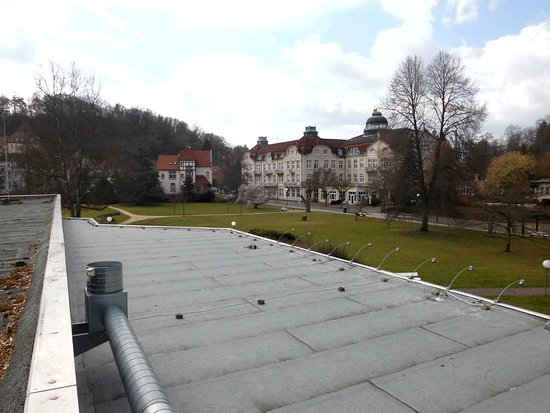 Bad Salzschlirf, ألمانيا: Blick von der Dachterrasse