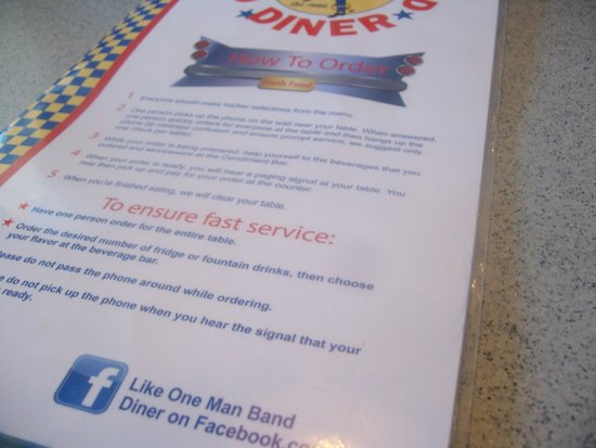 Spanish Fork, ยูทาห์: Didn't know restaurants came with instruction manuals...