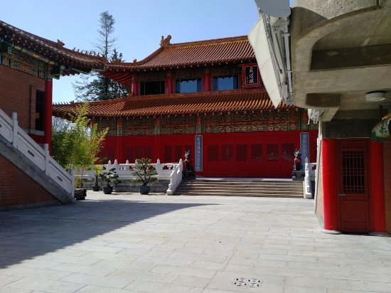 Richmond, Kanada: Courtyard in the back of the Buddhist Temple.
