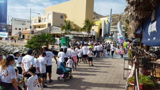 Tesoro Los Cabos: The boardwalk behind the hotel. Can't beat this location.
