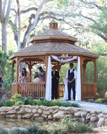 Washington Oaks Gardens State Park: Gazebo - There are outlets so you can play wedding music as the bride walks down the isle and af