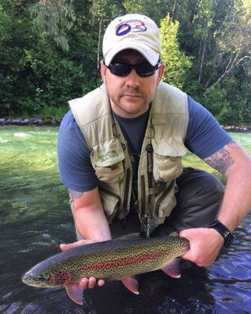 Talkeetna, AK: Joe and a phenomenal trout!