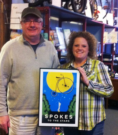 Sparta, WI: Deke Slayton Memorial Space and Bike Museum's Alyssa Young and Rex Parker