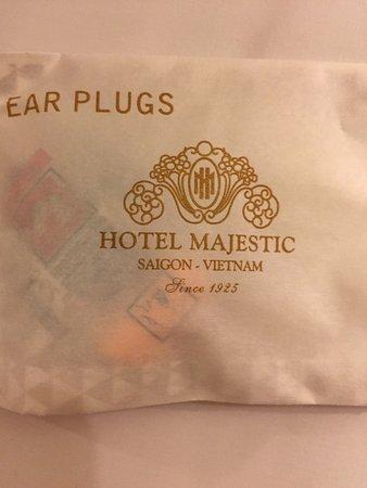 Khách sạn Majestic Sài Gòn: tapones para dormir