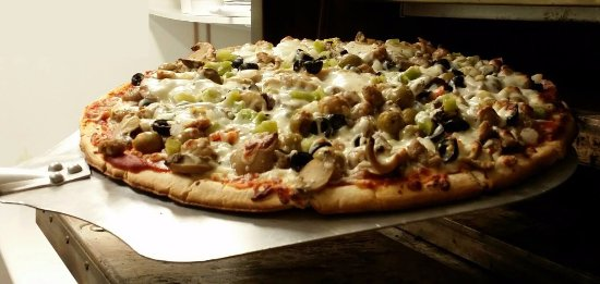 Bellevue, NE: The Viking, Deck Oven Pizza Loaded