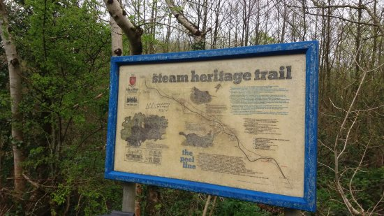Port Erin, UK: Steam heritage trail to Peel