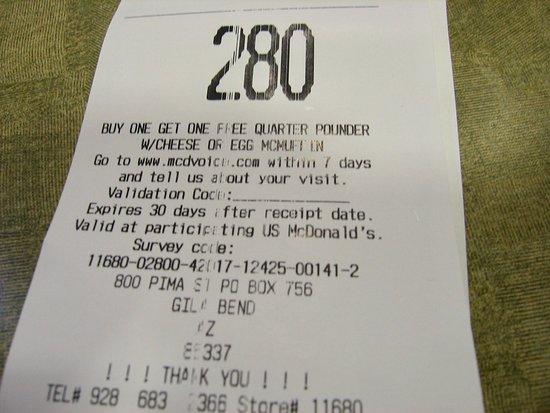 Gila Bend, AZ: Order 280