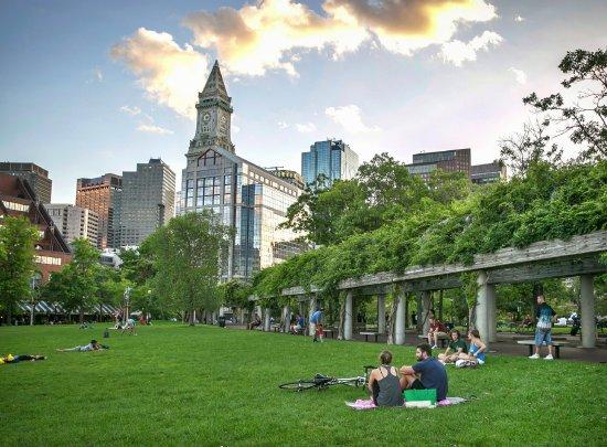 Christopher Columbus Park in Boston