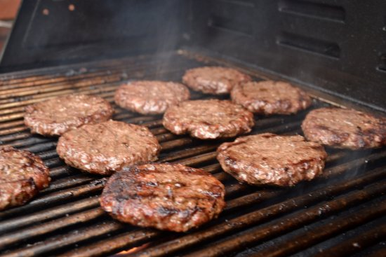 Amsterdam, NY: Charcoal Grilled Burgers