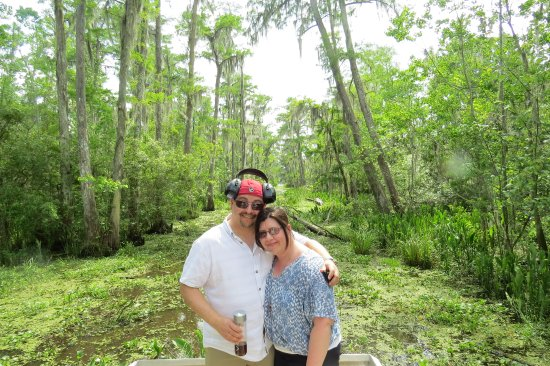 Westwego, LA: Posing in the swamp! What a beautiful backdrop!