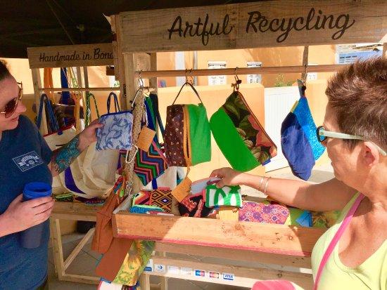 Kralendijk, Bonaire: Phish Phaktory's one-of-kind items feature some, if not all, repurposed materials.