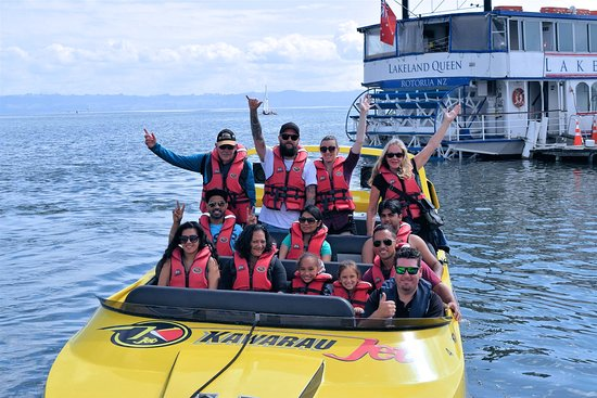 Kawarau Jet Rotorua & Kjet Parasailing : All aboard on on our way