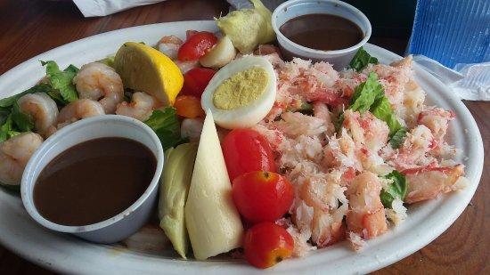 15th Street Fisheries: Seafood Salad plenty of shrimp and lobster