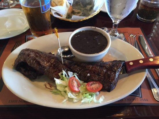 North Fort Myers, FL: Churrasco de Entrana and black bean