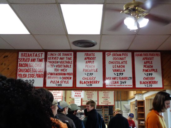 Arbuckle Mountain Fried Pies: There is a nice variety of breakfast, meal and fruit pies. They are a good size.