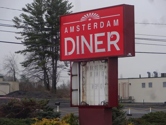 Amsterdam, NY: entry signage on the highway