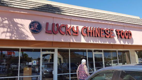 Santee, CA: Lucky Chinese Food Entrance