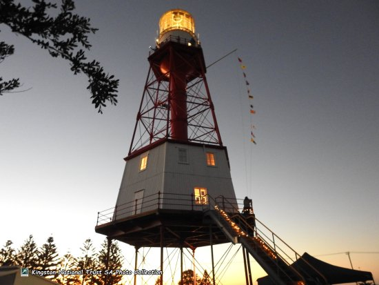 Kingston SE, Australia: Cape Jaffa Lighthouse.Celebrating 145th year of the first Government Gazetted lighting up. 15-1-