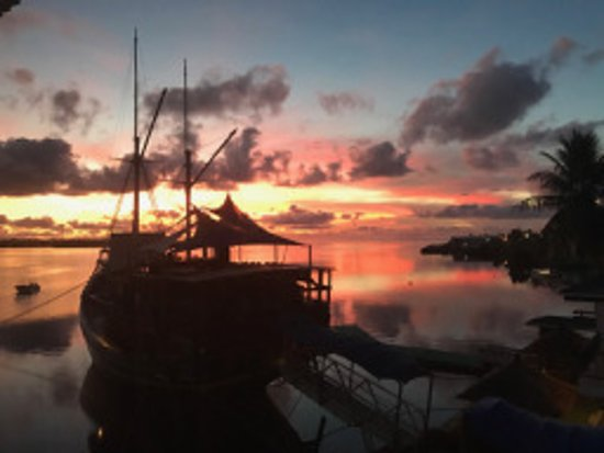 Colonia, Federated States of Micronesia: Morning view from 302